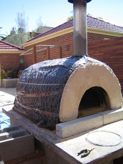 Place the oven concrete arches on