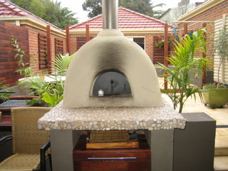 Finished wood-fired oven