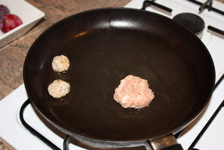Pre-cook a cake of your sausage to check the flavours are right