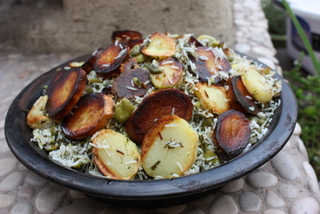 Baghali Polow, Broad bean and dill rice, Green rice