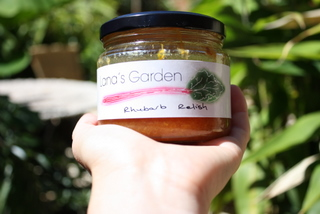 Lana's Garden Rhubarb Relish