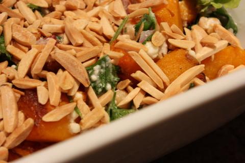 Pumpkin chickpea salad
