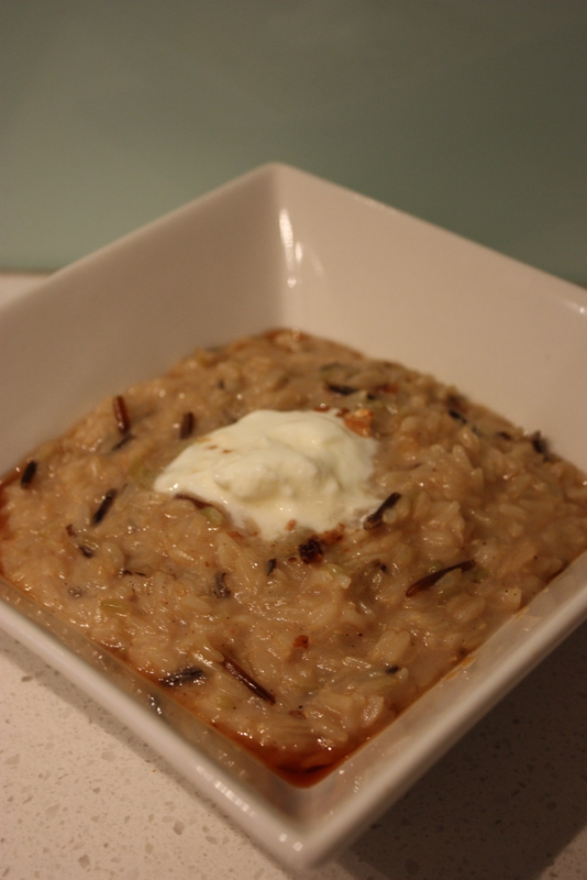 Wild & brown rice porridge, with coconut milk
